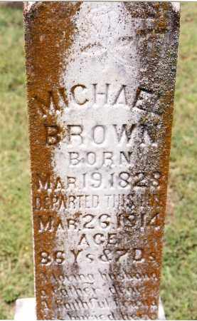 BROWN, MICHAEL - Johnson County, Arkansas | MICHAEL BROWN - Arkansas Gravestone Photos