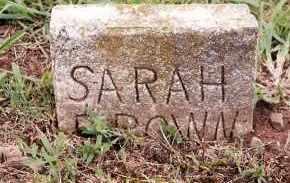 BROWN, SARAH - Johnson County, Arkansas | SARAH BROWN - Arkansas Gravestone Photos