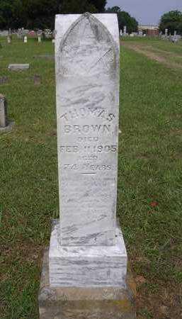 BROWN, THOMAS - Johnson County, Arkansas   THOMAS BROWN - Arkansas Gravestone Photos