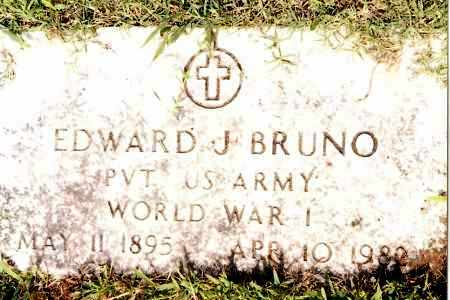 BRUNO (VETERAN WWI), EDWARD J - Johnson County, Arkansas   EDWARD J BRUNO (VETERAN WWI) - Arkansas Gravestone Photos