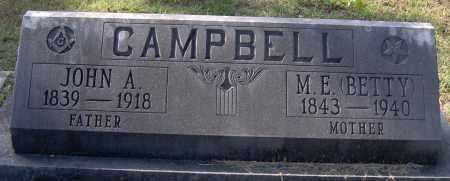 CAMPBELL, JOHN A - Johnson County, Arkansas | JOHN A CAMPBELL - Arkansas Gravestone Photos