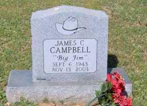 "CAMPBELL, JAMES C ""BIG JIM"" - Johnson County, Arkansas | JAMES C ""BIG JIM"" CAMPBELL - Arkansas Gravestone Photos"