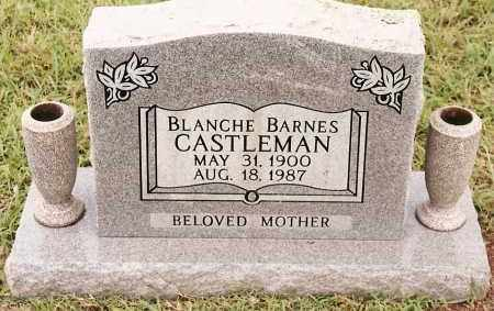 BARNES CASTLEMAN, BLANCHE - Johnson County, Arkansas | BLANCHE BARNES CASTLEMAN - Arkansas Gravestone Photos