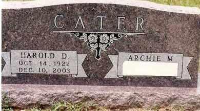 CATER  (VETERAN WWII), HAROLD D. - Johnson County, Arkansas | HAROLD D. CATER  (VETERAN WWII) - Arkansas Gravestone Photos