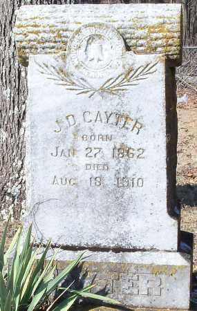 CAYTER, J D - Johnson County, Arkansas | J D CAYTER - Arkansas Gravestone Photos