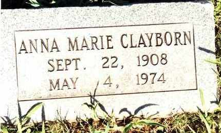 WISE CLAYBORN, ANNA MARIE - Johnson County, Arkansas | ANNA MARIE WISE CLAYBORN - Arkansas Gravestone Photos