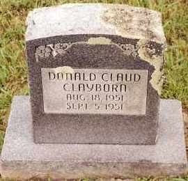 CLAYBORN, DONALD CLAUD - Johnson County, Arkansas | DONALD CLAUD CLAYBORN - Arkansas Gravestone Photos