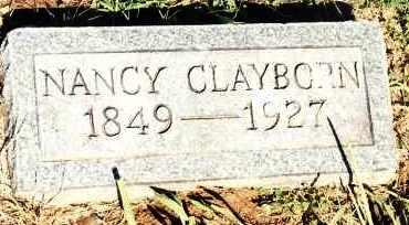 BARBER CLAYBORN, NANCY CAROLINE - Johnson County, Arkansas | NANCY CAROLINE BARBER CLAYBORN - Arkansas Gravestone Photos