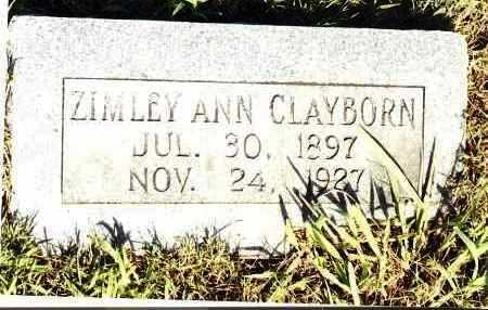 MCKNIGHT CLAYBORN, ZIMLEY ANN - Johnson County, Arkansas | ZIMLEY ANN MCKNIGHT CLAYBORN - Arkansas Gravestone Photos