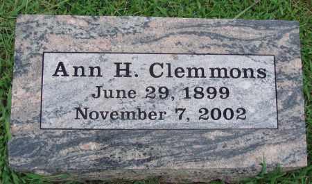 CLEMMONS, ANN H. - Johnson County, Arkansas | ANN H. CLEMMONS - Arkansas Gravestone Photos