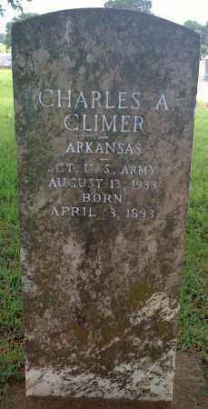 CLIMER  (VETERAN), CHARLES A. - Johnson County, Arkansas   CHARLES A. CLIMER  (VETERAN) - Arkansas Gravestone Photos