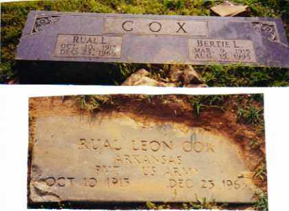 COX, BERTIE - Johnson County, Arkansas   BERTIE COX - Arkansas Gravestone Photos