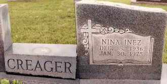 CREAGER, NINA INEZ - Johnson County, Arkansas | NINA INEZ CREAGER - Arkansas Gravestone Photos