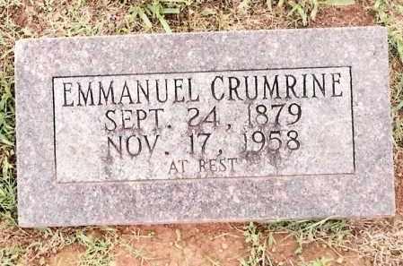 CRUMRINE, EMMANUEL - Johnson County, Arkansas | EMMANUEL CRUMRINE - Arkansas Gravestone Photos