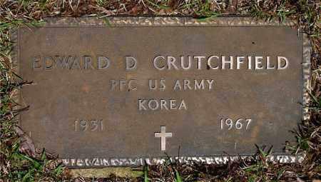 CRUTCHFIELD  (VETERAN KOR), EDWARD D - Johnson County, Arkansas | EDWARD D CRUTCHFIELD  (VETERAN KOR) - Arkansas Gravestone Photos
