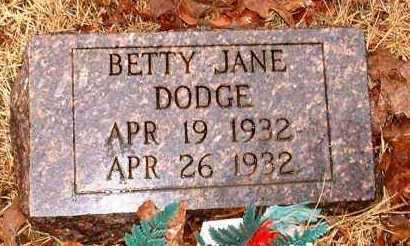 DODGE, BETTY JANE - Johnson County, Arkansas | BETTY JANE DODGE - Arkansas Gravestone Photos