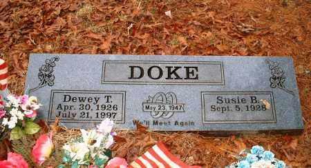 DOKE, DEWEY T - Johnson County, Arkansas | DEWEY T DOKE - Arkansas Gravestone Photos