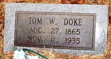 DOKE, TOM W - Johnson County, Arkansas   TOM W DOKE - Arkansas Gravestone Photos