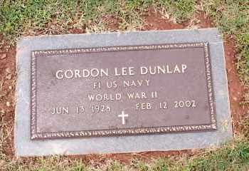 DUNLAP (VETERAN WWII), GORDON LEE - Johnson County, Arkansas | GORDON LEE DUNLAP (VETERAN WWII) - Arkansas Gravestone Photos