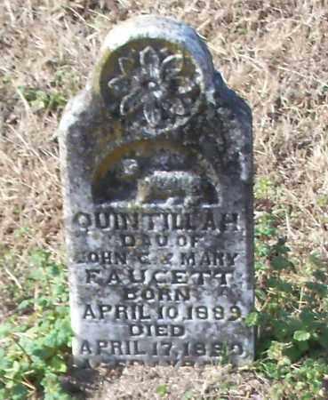 FAUCETT, QUINTILLAH - Johnson County, Arkansas   QUINTILLAH FAUCETT - Arkansas Gravestone Photos
