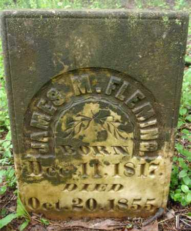 FLEMING, JAMES M. (CLOSE UP) - Johnson County, Arkansas | JAMES M. (CLOSE UP) FLEMING - Arkansas Gravestone Photos