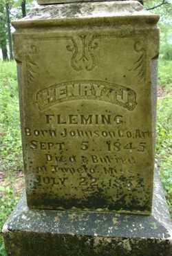 FLEMING, HENRY J. - Johnson County, Arkansas | HENRY J. FLEMING - Arkansas Gravestone Photos