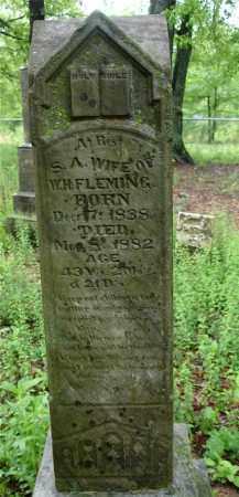 FLEMING, SALINA A. - Johnson County, Arkansas | SALINA A. FLEMING - Arkansas Gravestone Photos