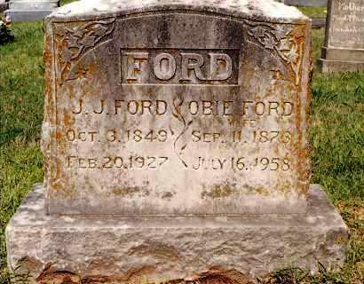 FORD, OBIE - Johnson County, Arkansas | OBIE FORD - Arkansas Gravestone Photos
