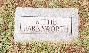 FARNSWORTH, KITTIE - Johnson County, Arkansas   KITTIE FARNSWORTH - Arkansas Gravestone Photos