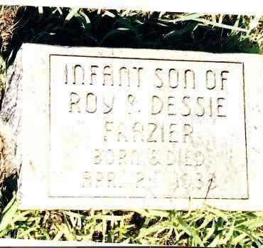 FRAZIER, INFANT SON - Johnson County, Arkansas   INFANT SON FRAZIER - Arkansas Gravestone Photos