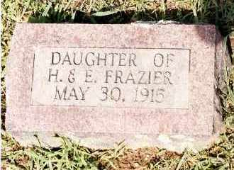 FRAZIER, INFANT DAUGHTER - Johnson County, Arkansas   INFANT DAUGHTER FRAZIER - Arkansas Gravestone Photos