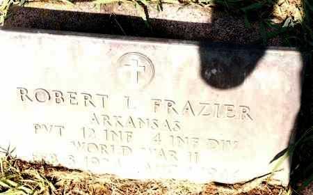 FRAZIER (VETERAN WWII), ROBERT L - Johnson County, Arkansas | ROBERT L FRAZIER (VETERAN WWII) - Arkansas Gravestone Photos