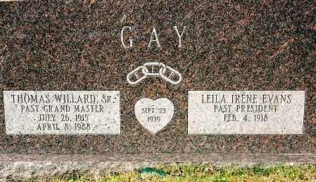 GAY, THOMAS WILLARD - Johnson County, Arkansas | THOMAS WILLARD GAY - Arkansas Gravestone Photos