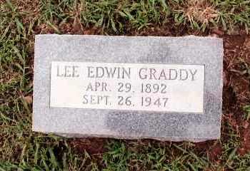 GRADDY, LEE EDWIN - Johnson County, Arkansas   LEE EDWIN GRADDY - Arkansas Gravestone Photos
