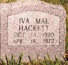 HACKETT, IVA MAE - Johnson County, Arkansas | IVA MAE HACKETT - Arkansas Gravestone Photos