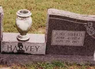 HARRIS HARVEY, JUNE - Johnson County, Arkansas   JUNE HARRIS HARVEY - Arkansas Gravestone Photos