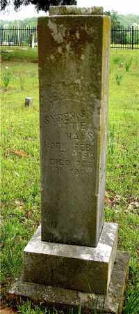 HAYS, SYRENUS OTTIE - Johnson County, Arkansas | SYRENUS OTTIE HAYS - Arkansas Gravestone Photos
