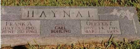 HAYNAL, OLEYTA I - Johnson County, Arkansas | OLEYTA I HAYNAL - Arkansas Gravestone Photos
