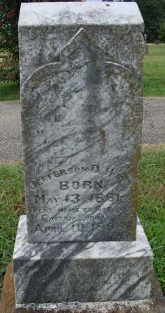 HAYS, JEFFERSON D. - Johnson County, Arkansas | JEFFERSON D. HAYS - Arkansas Gravestone Photos