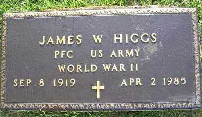 HIGGS  (VETERAN WWII), JAMES W - Johnson County, Arkansas | JAMES W HIGGS  (VETERAN WWII) - Arkansas Gravestone Photos