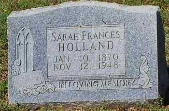 HOLLAND, SARAH FRANCES - Johnson County, Arkansas | SARAH FRANCES HOLLAND - Arkansas Gravestone Photos