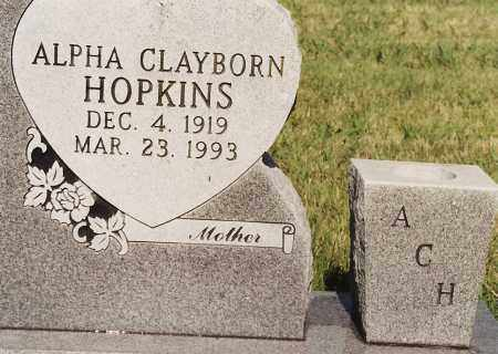 HOPKINS, ALPHA - Johnson County, Arkansas | ALPHA HOPKINS - Arkansas Gravestone Photos