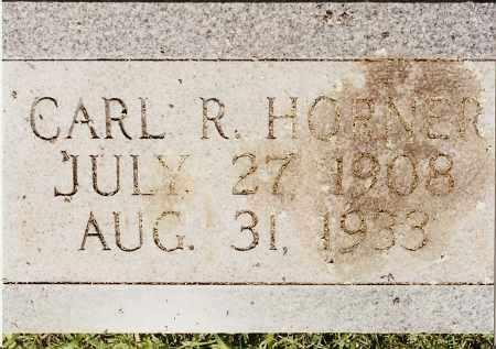 HORNER, CARL R - Johnson County, Arkansas | CARL R HORNER - Arkansas Gravestone Photos