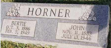 HORNER, JOHN - Johnson County, Arkansas | JOHN HORNER - Arkansas Gravestone Photos