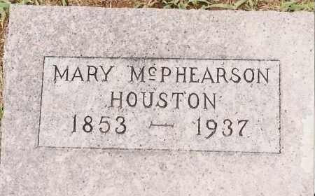 MCPHEARSON HOUSTON, MARY - Johnson County, Arkansas | MARY MCPHEARSON HOUSTON - Arkansas Gravestone Photos