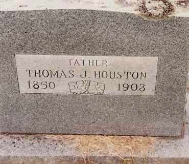 HOUSTON, THOMAS J - Johnson County, Arkansas | THOMAS J HOUSTON - Arkansas Gravestone Photos
