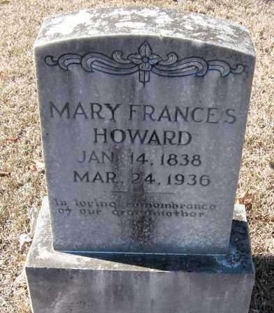HOWARD, MARY FRANCES - Johnson County, Arkansas   MARY FRANCES HOWARD - Arkansas Gravestone Photos