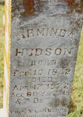 HUDSON, ARMINDA - Johnson County, Arkansas | ARMINDA HUDSON - Arkansas Gravestone Photos