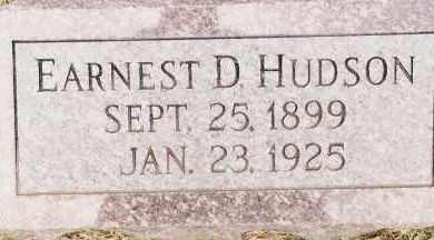 HUDSON, EARNEST D - Johnson County, Arkansas   EARNEST D HUDSON - Arkansas Gravestone Photos