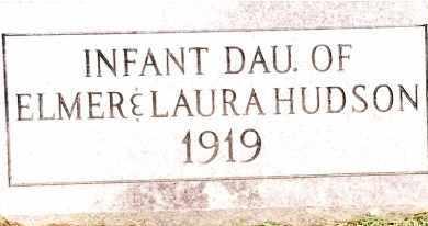 HUDSON, INFANT DAUGHTER - Johnson County, Arkansas | INFANT DAUGHTER HUDSON - Arkansas Gravestone Photos